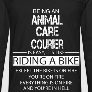 Animal Care Courier T-Shirts - Men's Premium Longsleeve Shirt