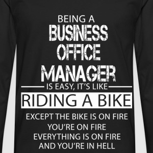 Business Office Manager T-Shirts - Men's Premium Longsleeve Shirt
