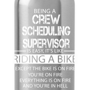 Crew Scheduling Supervisor T-Shirts - Water Bottle
