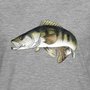 pike-perch T-shirts - Herre premium T-shirt med lange ærmer