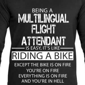Multilingual Flight Attendant T-Shirts - Men's Sweatshirt by Stanley & Stella