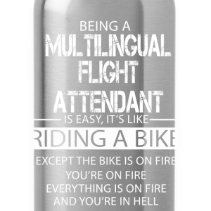 Multilingual Flight Attendant T-Shirts - Water Bottle