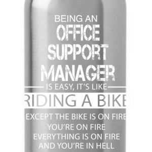 Office Support Manager T-Shirts - Water Bottle