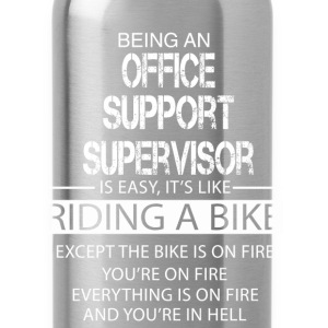 Office Support Supervisor T-Shirts - Water Bottle
