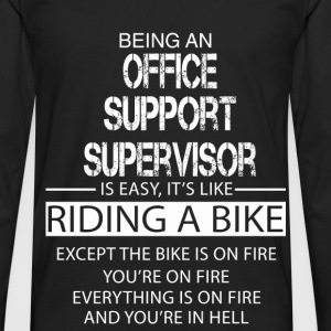 Office Support Supervisor T-Shirts - Men's Premium Longsleeve Shirt
