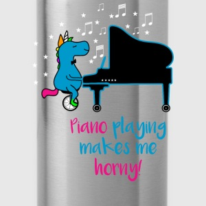 PIANO PLAYING MAKES ME HORNY T-Shirts - Trinkflasche
