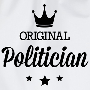 Original three star deluxe politician Shirts - Drawstring Bag