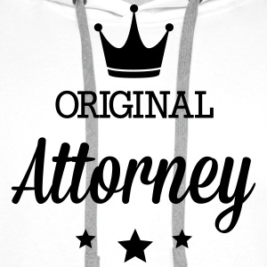 Original three star deluxe Attorney Shirts - Men's Premium Hoodie