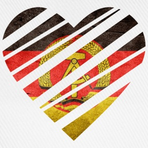 East Germany Heart Camisetas - Gorra béisbol