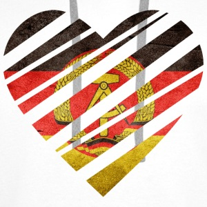 East Germany Heart T-Shirts - Men's Premium Hoodie