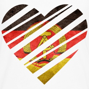 East Germany Heart Tee shirts - T-shirt manches longues Premium Homme