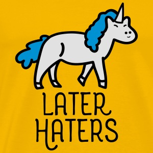 Later Haters (Unicorn) Krus & tilbehør - Herre premium T-shirt