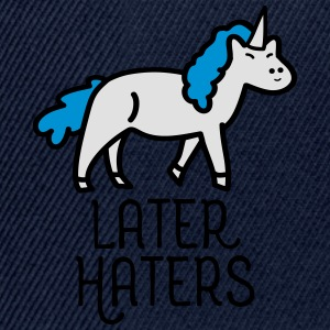 Later Haters (Unicorn) T-shirts - Snapback cap