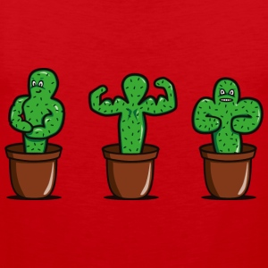 cactus with muscles T-Shirts - Men's Premium Tank Top