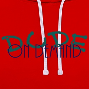 dude on demand_vec_2 de T-Shirts - Kontrast-Hoodie