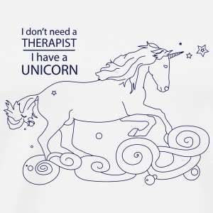 unicorn therapist - Männer Premium T-Shirt