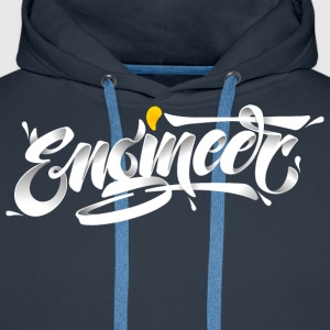 Engineer (3D Typography Style) T-Shirts - Men's Premium Hoodie
