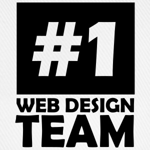 number one web design team T-Shirts - Baseball Cap