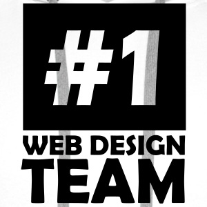 number one web design team T-Shirts - Men's Premium Hoodie