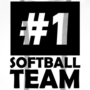 number one softball team T-Shirts - Men's Premium Hoodie