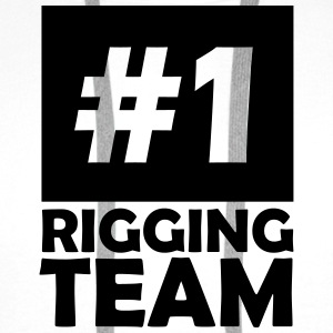 number one rigging team T-Shirts - Men's Premium Hoodie