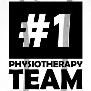 number one physiotherapy team T-Shirts - Men's Premium Hoodie