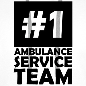 number one ambulance service team T-Shirts - Men's Premium Hoodie