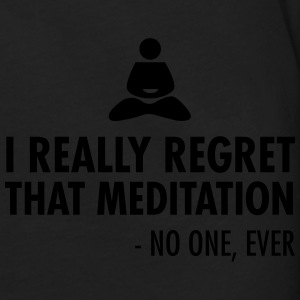I really regret that meditation - no one, ever Sweatshirts - Herre premium T-shirt med lange ærmer