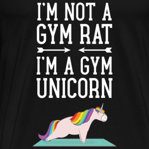 I'm Not A Gym Rat - I'm A Gym Unicorn Tops - Men's Premium T-Shirt