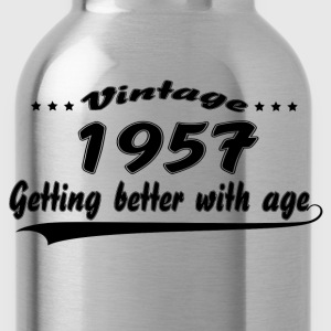 Vintage 1957 Getting Better With Age T-Shirts - Water Bottle