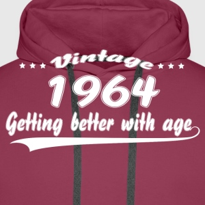 Vintage 1964 Getting Better With Age T-Shirts - Men's Premium Hoodie