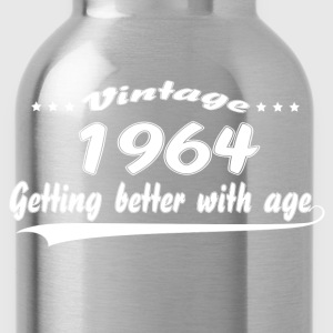 Vintage 1964 Getting Better With Age T-Shirts - Water Bottle