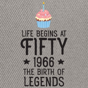 Life Begins AT Fifty...(Cupcake) T-shirts - Snapback cap