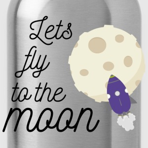 fly to the moon T-Shirts - Water Bottle