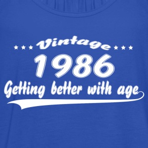 Vintage 1986 Getting Better With Age T-Shirts - Women's Tank Top by Bella