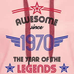 Awesome since 1970 T-Shirts - Women's Premium Hoodie