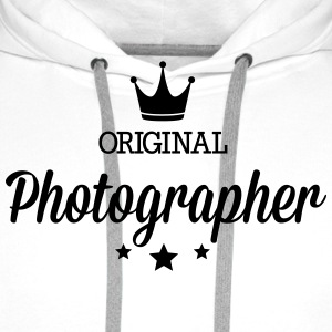 Original three star deluxe photographer T-Shirts - Men's Premium Hoodie