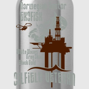Ekofisk Oil Rig Platform North Sea Norway T-Shirts - Water Bottle