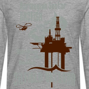 Ekofisk Oil Rig Platform North Sea Norway T-Shirts - Men's Premium Longsleeve Shirt