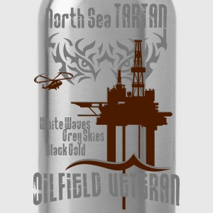 Tartan Oil Field Oil Rig Platform T-Shirts - Water Bottle