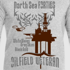 Forties Oil Rig Oil Field Platform T-Shirts - Men's Sweatshirt by Stanley & Stella