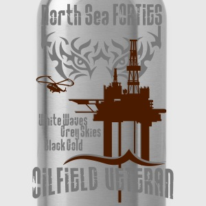 Forties Oil Rig Oil Field Platform T-Shirts - Water Bottle