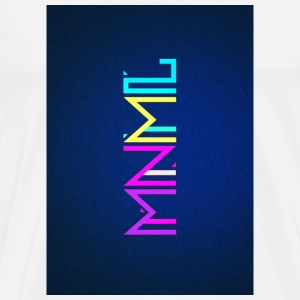 Minimal Type (Colorful) Typographie - Handy Cover Handy & Tablet Hüllen - Männer Premium T-Shirt