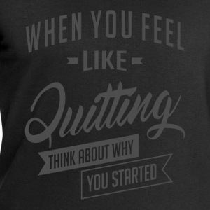 Started - Inspiration Quote. - Men's Sweatshirt by Stanley & Stella