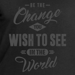 Be the Change - Inspiration Quote. - Men's Sweatshirt by Stanley & Stella