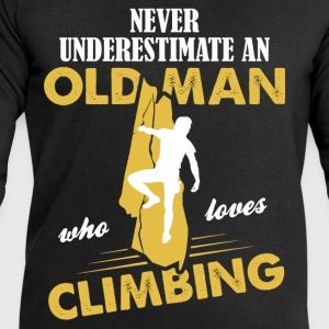 Never Underestimate An Old Man Who Loves Climbing T-Shirts - Men's Sweatshirt by Stanley & Stella