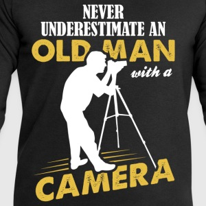 Never Underestimate An Old Man With A Camera T-Shirts - Men's Sweatshirt by Stanley & Stella