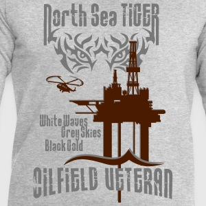 North Sea Oil Rig Oil Field Veteran T-Shirts - Men's Sweatshirt by Stanley & Stella