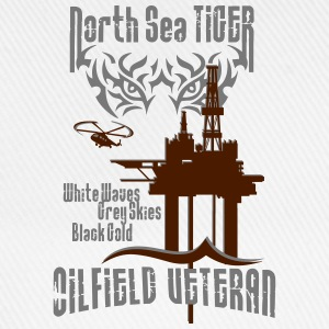 North Sea Oil Rig Oil Field Veteran T-Shirts - Baseball Cap