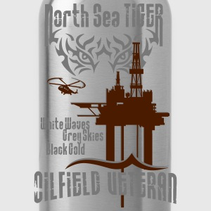 North Sea Oil Rig Oil Field Veteran T-Shirts - Water Bottle